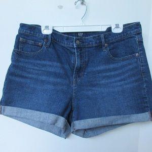 Gap Denim Shorts Sz 33 Stretch High Rise Blue Jean